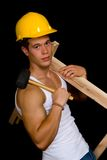 Construtor de corpo, pose artístico imagens de stock