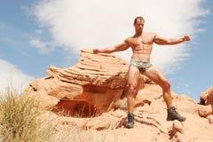 Construtor de corpo 'sexy' atlético fotografia de stock