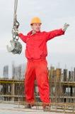 Construtor de Riggwer com cintas Imagem de Stock Royalty Free