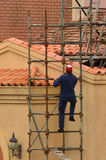 Construtor do andaime Imagens de Stock Royalty Free