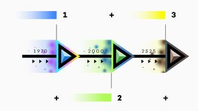 Construtor do espaço temporal de Infographic Foto de Stock Royalty Free