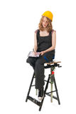 Construtor fêmea Foto de Stock Royalty Free