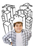 Construtor futuro Imagens de Stock
