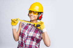 Construtor Girl Imagem de Stock Royalty Free