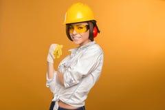 Construtor Girl Imagens de Stock Royalty Free