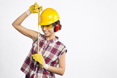Construtor Girl Fotografia de Stock Royalty Free