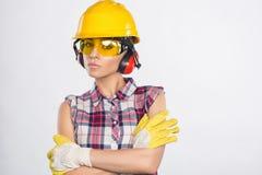 Construtor Girl Imagens de Stock