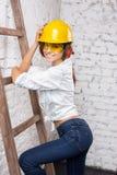 Construtor Girl Imagem de Stock