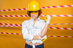 Construtor Girl Fotos de Stock Royalty Free
