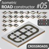 Construtor isométrico da estrada - 05 Imagem de Stock Royalty Free