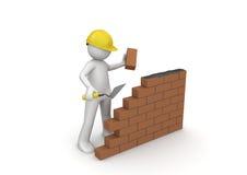Construtor/sob a construção ilustração stock