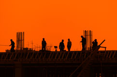 Construtores Fotografia de Stock
