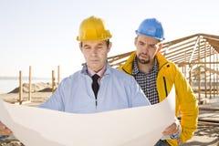 Construtores imagem de stock