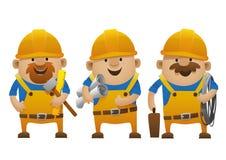 Construtores dos desenhos animados Foto de Stock Royalty Free