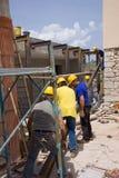 Construtores no trabalho Imagens de Stock Royalty Free