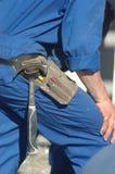 Construtores no trabalho imagem de stock