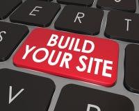 Construya su llave del botón del teclado de ordenador del sitio web Foto de archivo