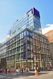 Construyendo 463 Broadway Nueva York que contiene Wells Fargo fotos de archivo