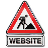Construyendo un sitio web y bajo construcción Imagen de archivo