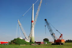 Constuction windturbine Royalty Free Stock Photography