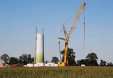 Constuction windturbine Royalty Free Stock Images