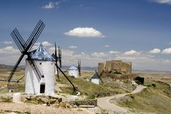Consuegra, Castilla La Mancha Royalty Free Stock Photos