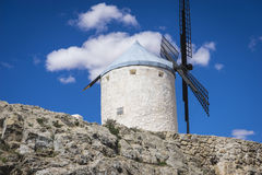 Consuegra, cereal mills mythical Castile in Spain, Don Quixote, Royalty Free Stock Photography
