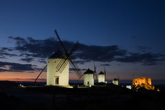 Consuegra at Dusk Stock Photography