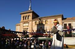 consuegra festival medeltida spain Royaltyfria Bilder