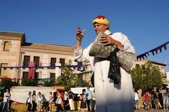 consuegra festival medeltida spain Arkivbilder