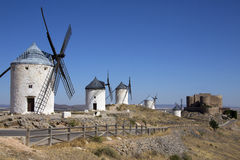 Consuegra Windmills - La Mancha - Spain Royalty Free Stock Photography