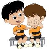 Consuelo del niño de sus amigos libre illustration