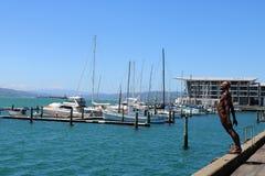 Consuelo en el viento, Max Patte, Wellington, NZ imagenes de archivo