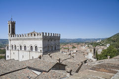 Consul Palace. Gubbio. Umbria. Stock Images