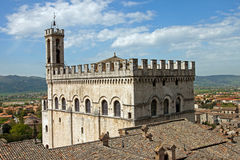 Consul Palace in the historic center of Gubbio Stock Image
