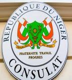 Consulaat van de Republiek Niger in Monaco royalty-vrije stock fotografie