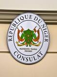 Consulaat van Niger royalty-vrije stock afbeeldingen