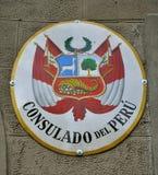 Consulaat van Peru stock afbeelding