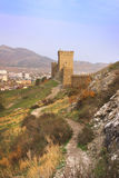 Consular Tower of Genoese fortress in Crimea peninsula Stock Photo