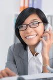 Consulente in materia del telefono Fotografia Stock