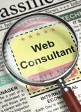 Consulente in materia ora di noleggio di web 3d Immagine Stock