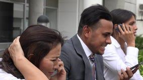 Consulenti finanziari durante l'arresto del mercato archivi video