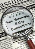 Consulenti in materia di Job Opening New Business Sales 3d Immagine Stock Libera da Diritti