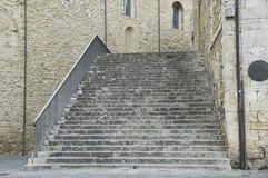 Consuls Palace Staircase. Bevagna. Umbria. Stock Image