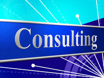 Consult Consulting Means Seek Advice And Confer Royalty Free Stock Photography