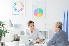 Consulta com dietista imagem de stock