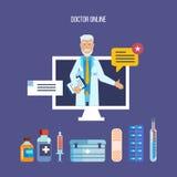 Consulta, consideración de denuncias y peticiones de pacientes en línea, cita libre illustration
