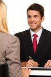 Consulta. Consulta e discussão Fotografia de Stock Royalty Free