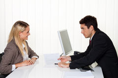 Consulta. Consulta e discussão Foto de Stock Royalty Free