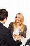 Consulta. Consulta e discussão por Jujuba Imagens de Stock Royalty Free